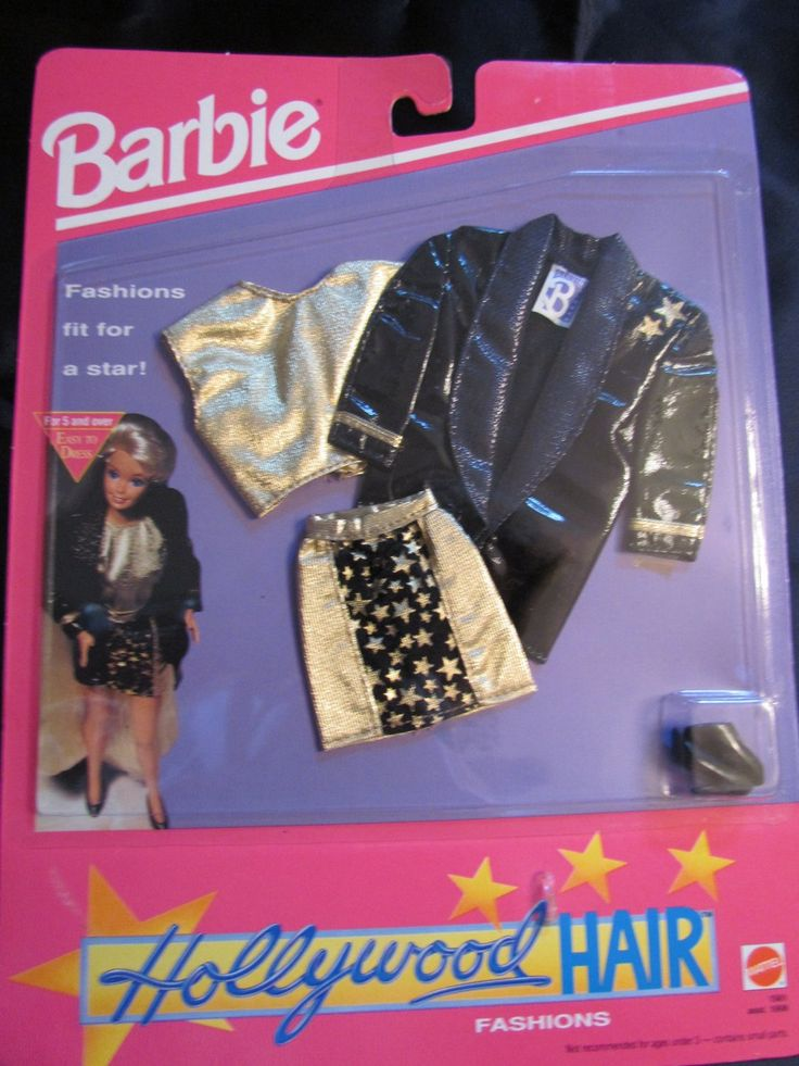 Amazon.com: 1992 Barbie Hollywood Hair Fashon: Zabawki