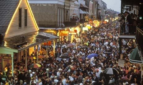 Bourbon. What is actually looks like at Mardi Gras.