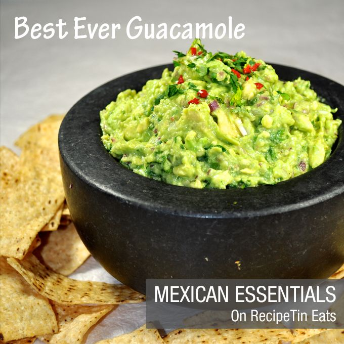 Best Ever Authentic Guacamole - once you've tried this, you'll never use another recipe again!