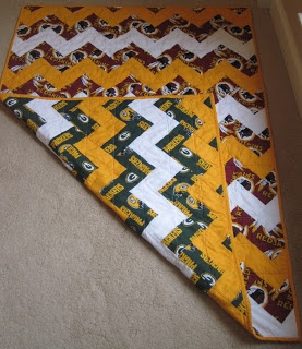 Blue Crab Quilting: Football Baby Quilt