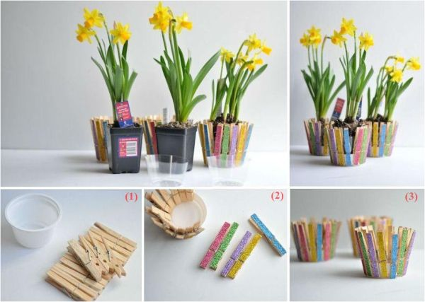 900 best diy projects images on pinterest craft home ideas and clothespin flower pot you can do it yourself find fun art projects to do solutioingenieria Gallery