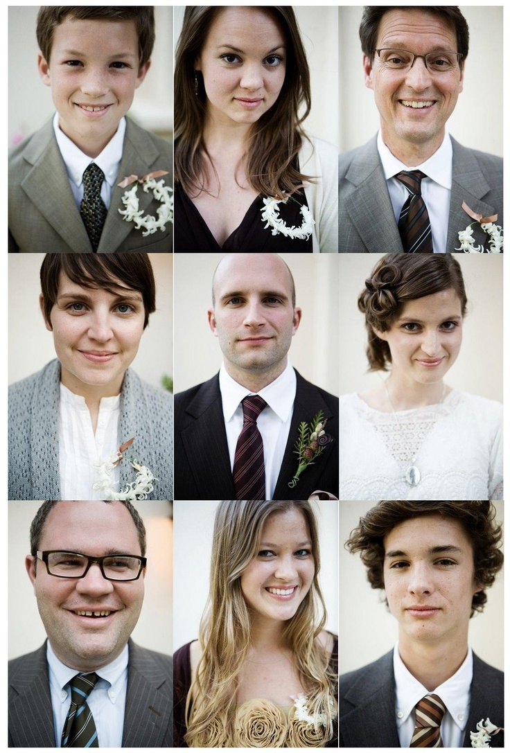 Individual shots of the Wedding party