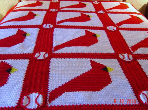 Cardinal Afghan Looking For This Pattern Crochet
