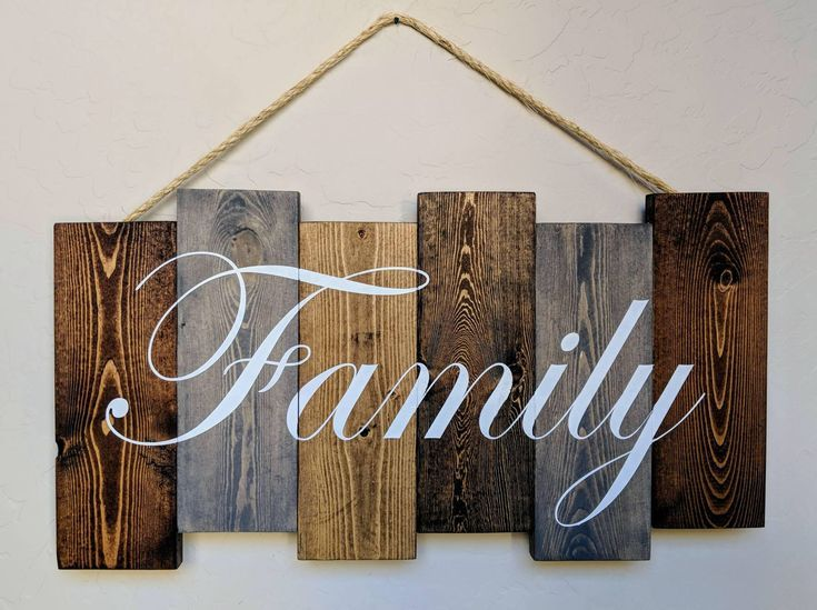 Family Pallet Sign Hand Painted Family Wood Art Wall