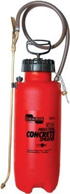 "Chapin? - Construction Sprayers 3 Gallon Industrial Polysprayer W/Viton Seals - Sold as 1 Each by Chapin Products. $109.06. Chapin? - Construction Sprayers 3 Gallon Industrial Polysprayer W/Viton Seals - Sold as 1 EachSealTite acid and chemical resistant seals and gaskets. Wide opening for easy filling and cleaning. Auto/manual high pressure relief valve. ""Lock-off"" feature to prevent accidental discharge. Adjustable poly cone nozzle sprays coarse stream to a fine mistBo..."