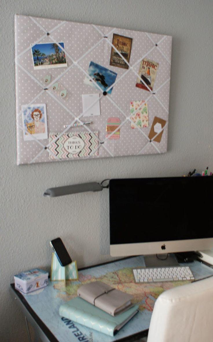 "Les lubies de Caroline: DIY: Un pêle-mêle en tissu, ou ""French Bulletin Board"""