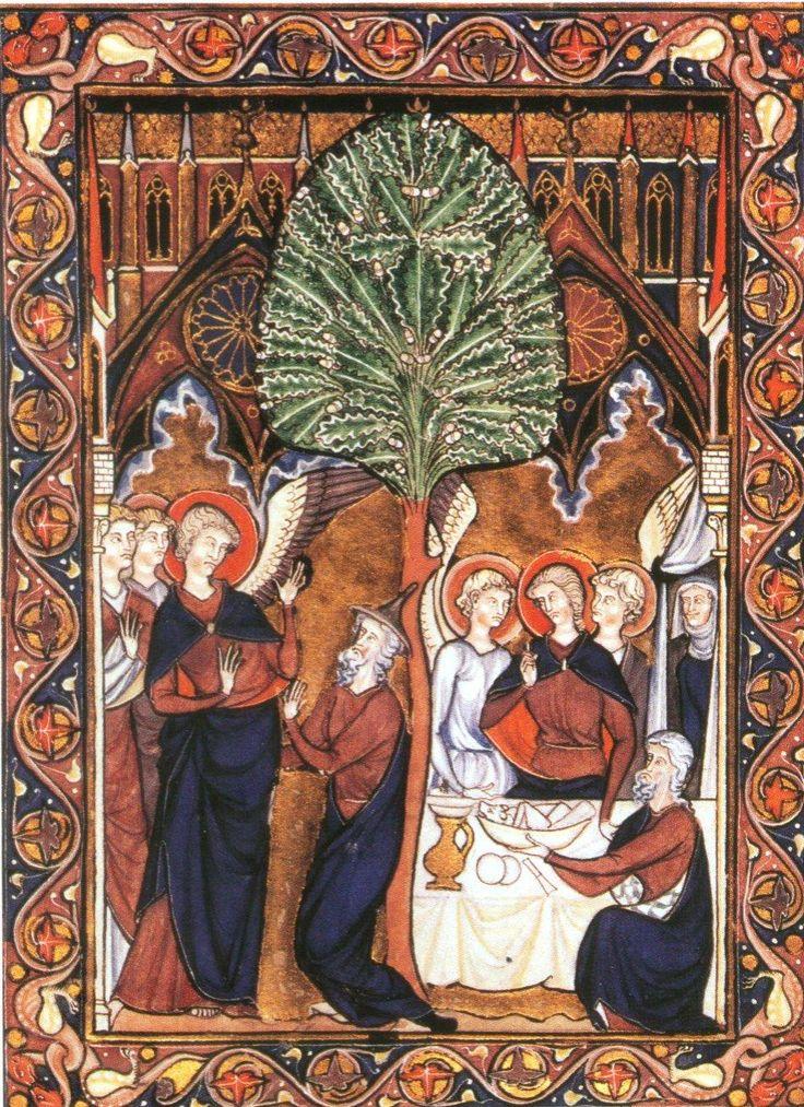 Le psautier de Saint Louis, Abraham, vers 1253