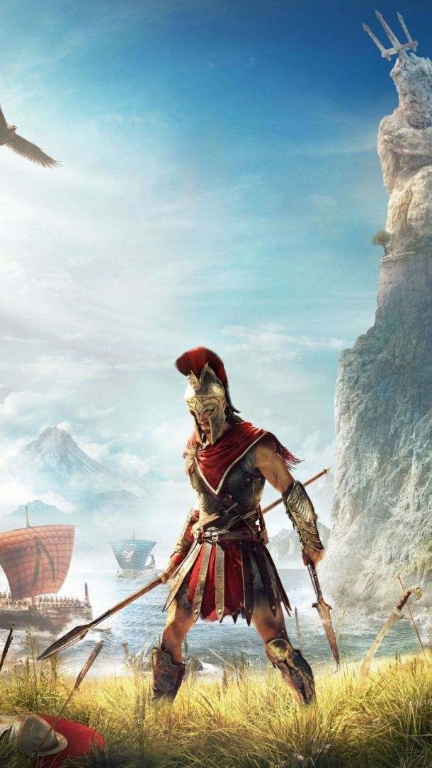 Assassin S Creed Odyssey Video Game Warrior 720x1280 Wallpaper