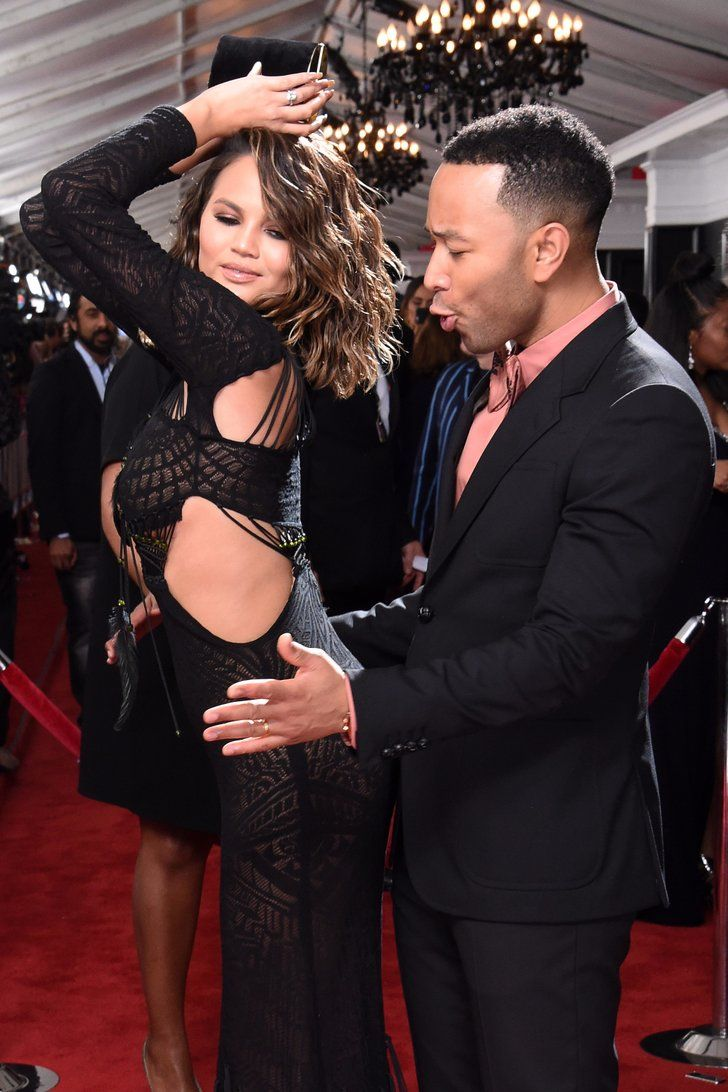 Things Got a Little Naughty Between Chrissy Teigen and John Legend at the Grammys