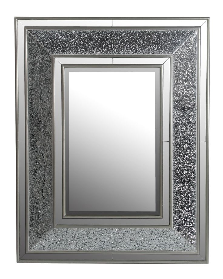 Beveled Rectangular Mosaic Mirror | Framed mirror wall
