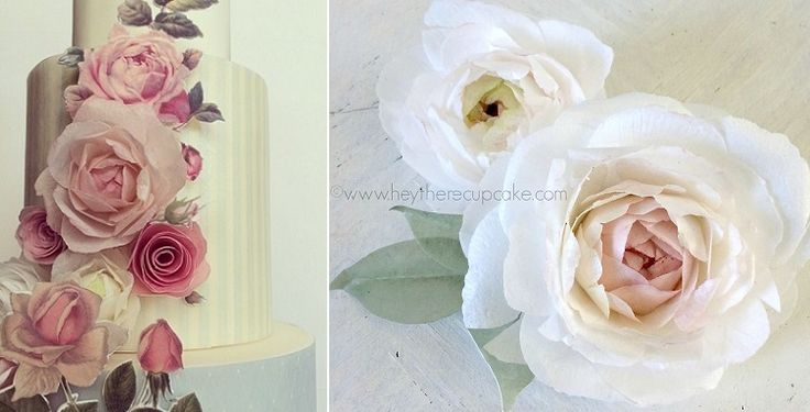 Tutorials - wafer paper flowers and painted appliques by Hey There Cupcake plus wafer paper peonies right