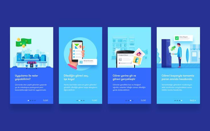 Onboarding Screens – User interface by Murat Gürsoy
