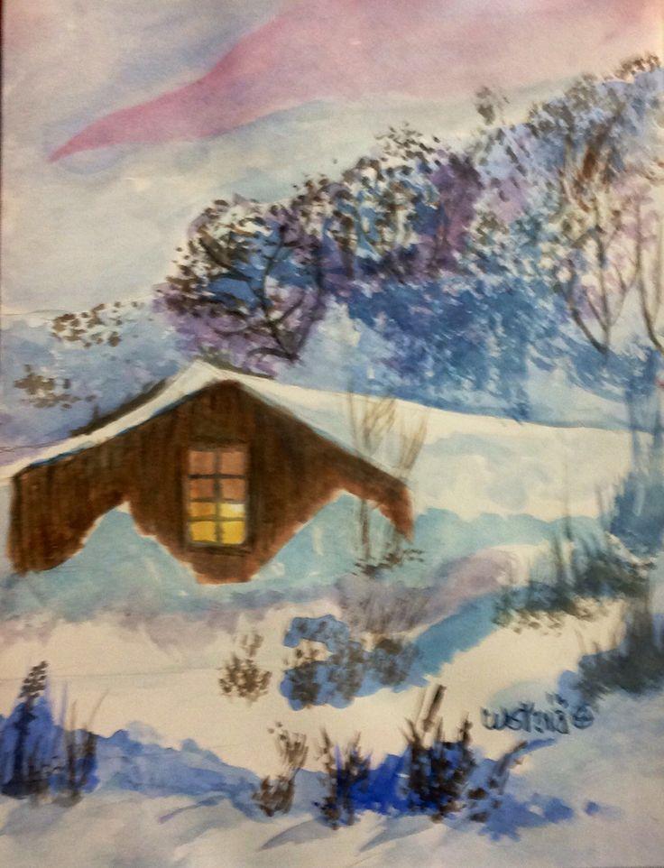 Cabaña en las nieves