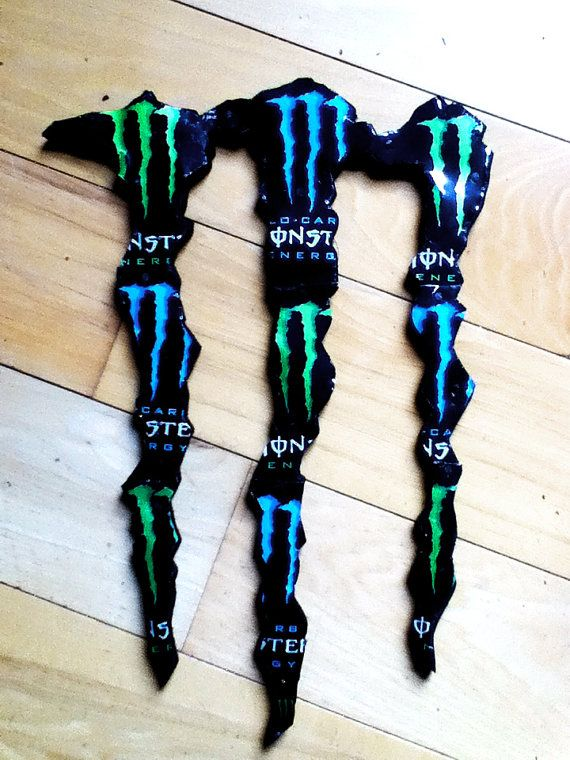 Monster Energy M man cave wall hanger art by SilverThornDesignArt, $75.00