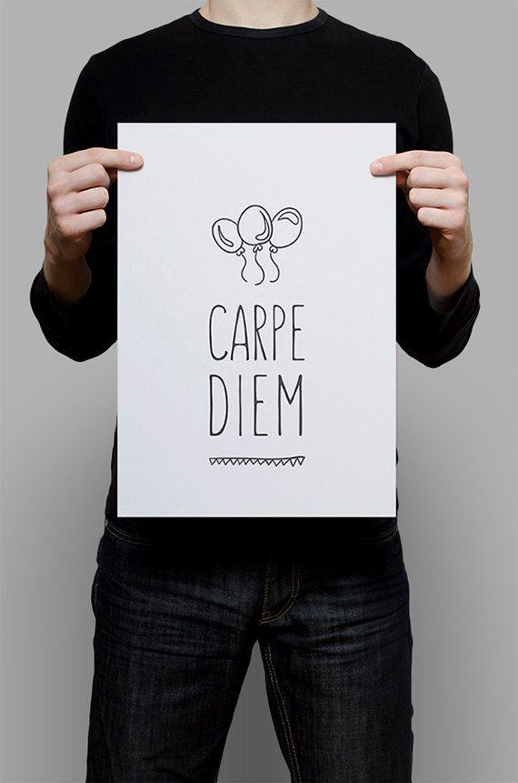 #Print #Digital #Download #Printable #Home #Decor #Poster #Typography #Inspirational #Quote #Art #Erhico #Design #carpediem