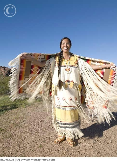 Native American Woman In Traditional Clothing Photo By -6304