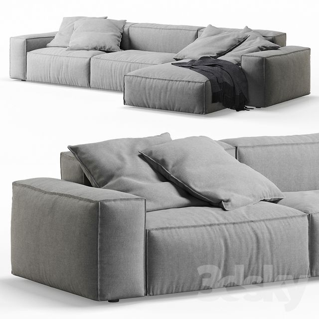 3d models Sofa NeoWall Corner Sofa by Living Divani