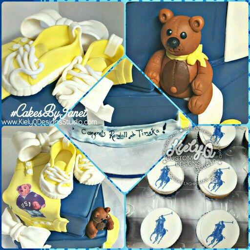 Ralph Lauren Polo Bear Inspired Cake! @CakesByJanet_4KielyQ #CakesByJanet  Www.KielyQDesignsStudio.com. Polo Baby ShowerBaby ...