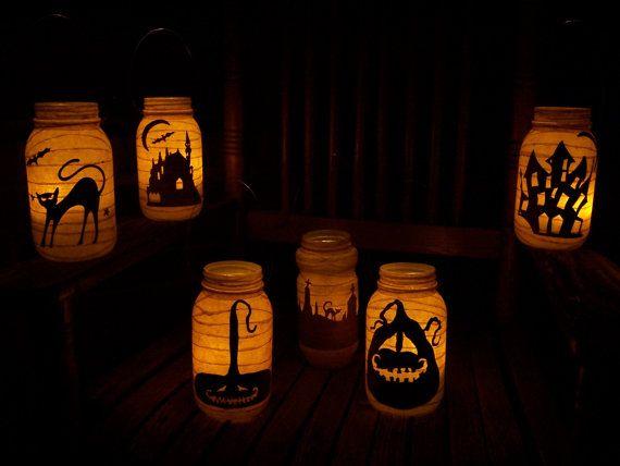 Primitive Halloween Lanterns: Primitives Halloween, Lanterns Candles, Halloween Haunted, Halloween Witch, Candles Holders, Haunted House, Grungi Primitives, Diy Projects, Halloween Lanterns