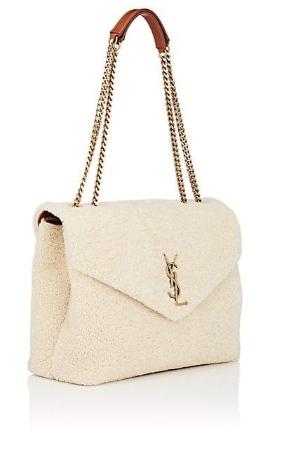 cecb1f1e3c0f Saint Laurent Monogram Loulou Medium Shearling Shoulder Bag ...