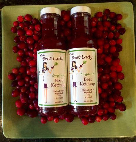 The Beet Lady Organic Cranberry Ketchup 12 oz. Bottles