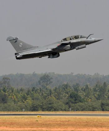 Un avion Rafale, en démonstration, en Inde © Manjunath Kiran / AFP