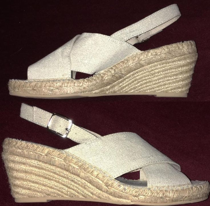 Wedge Espadrilles Size 9 GAP Women's Open Toe Shimmering Natural NEW no Box #Gap #PlatformsWedges #Casual