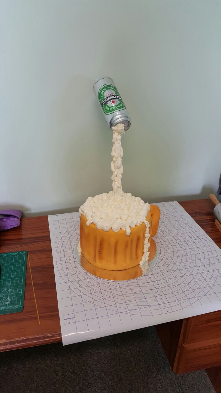 Gravity defying cake.....Happy beerday