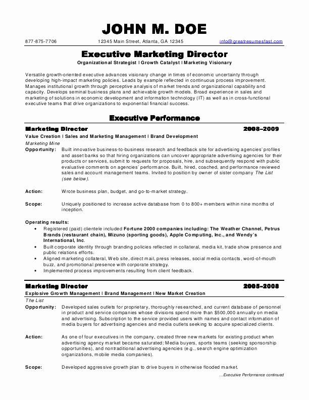Marketing Director Resume Example Beautiful Sample Resumes Marketing Director Resume Marketing Resume Professional Resume Samples Job Resume Examples