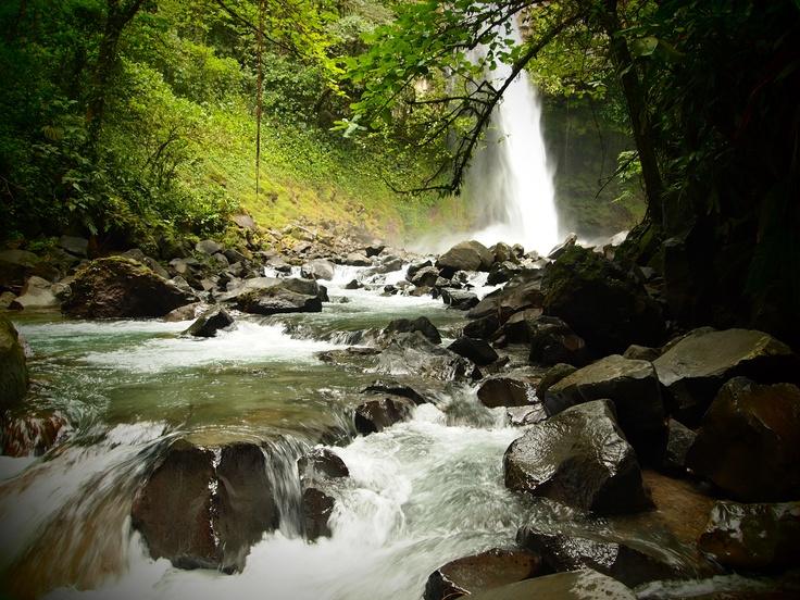 Costa Rican waterfall in the Arenal area