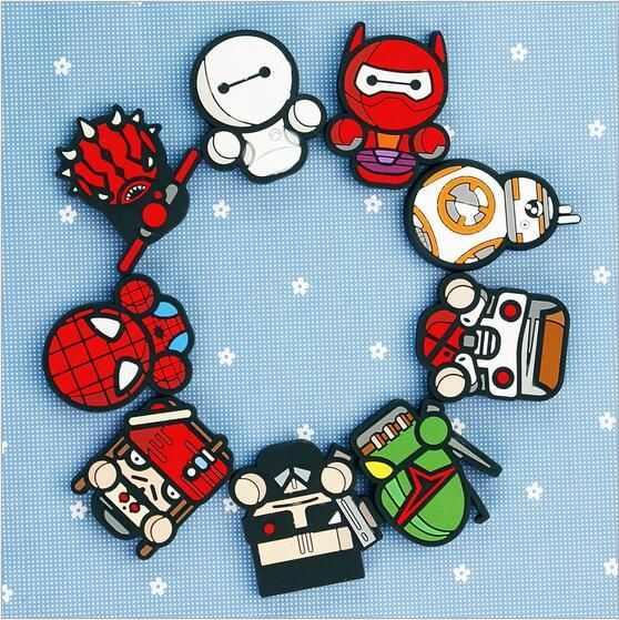 Marvel Heroes   PVC Soft rubber magnetic tape whiteboard magnetic sticker    Early education teaching AIDS refrigerator magnet
