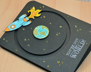 How cute is this Space card?!