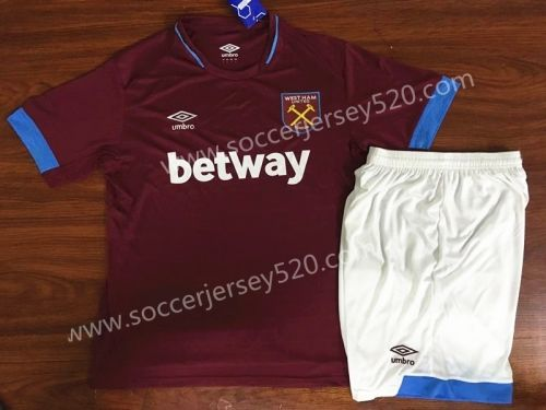 West Ham United Away Baby Kit Shirt Shorts Jersey Suit Soccer 2018 19 Football