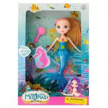 Mermaid Bath toys for girls, and toddlers. Cute Little Mermaid Doll with Hairbrush, Fairy Wings, and Mermaid Tail for Swimming in the Bath Tub– Colors May Vary //Price: $11.95 & FREE Shipping //