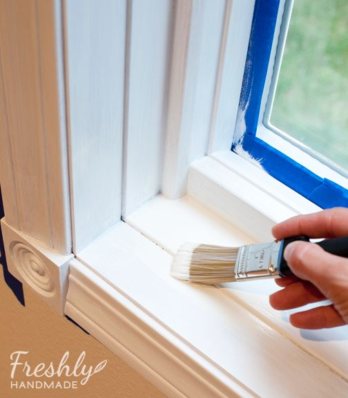 Freshly Handmade Tutorial A Beginner S Guide To Painting Wood Trim New House Pinterest And
