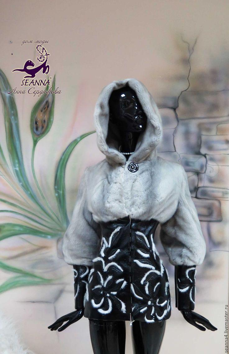 Купить Перешив из старой шубы новой роскошной дизайнерской курточки - серый, перешив шубы