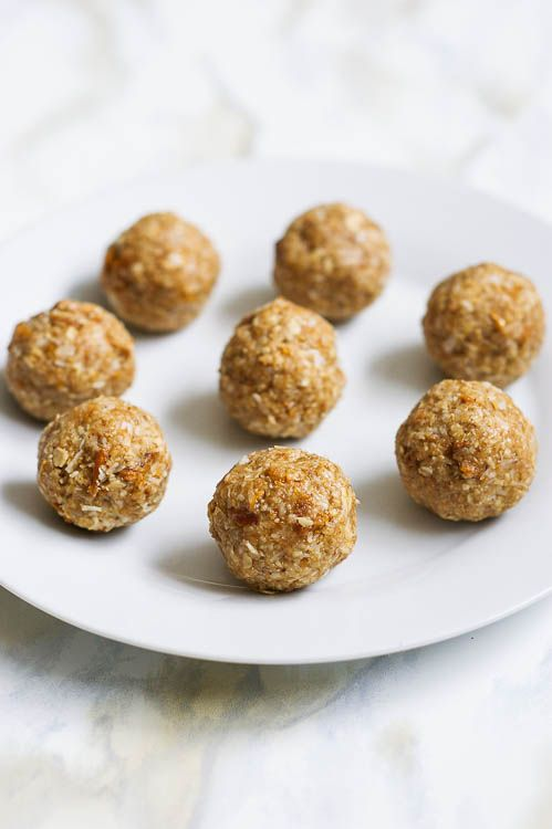 These mango coconut energy balls are a fast, healthy snack bursting with tropical flavour! Just 6 ingredients required and easily made vegan and gluten free!