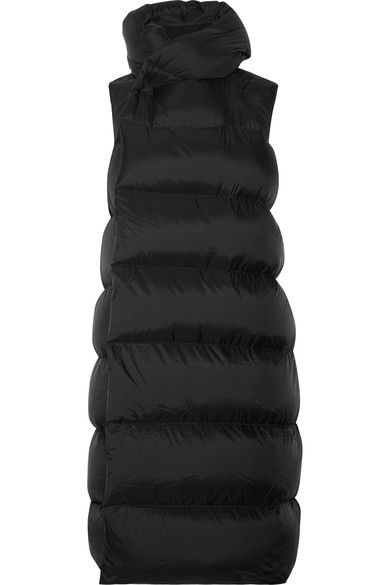 Rick Owens - Quilted Shell Down Vest - Black - IT44