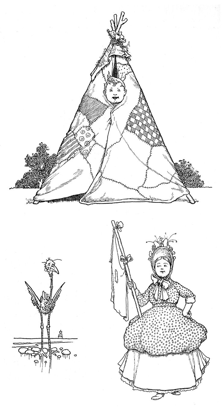 Headpiece (above), tailpiece, and vignette (below right