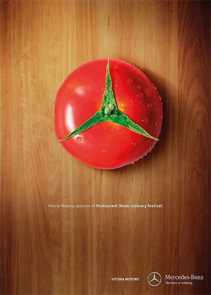 Para un festival culinario en el que participan los mejores restaurantes, Vitoria Motors, una concesionaria oficial de Mercedes Benz, lanzó esta original campaña