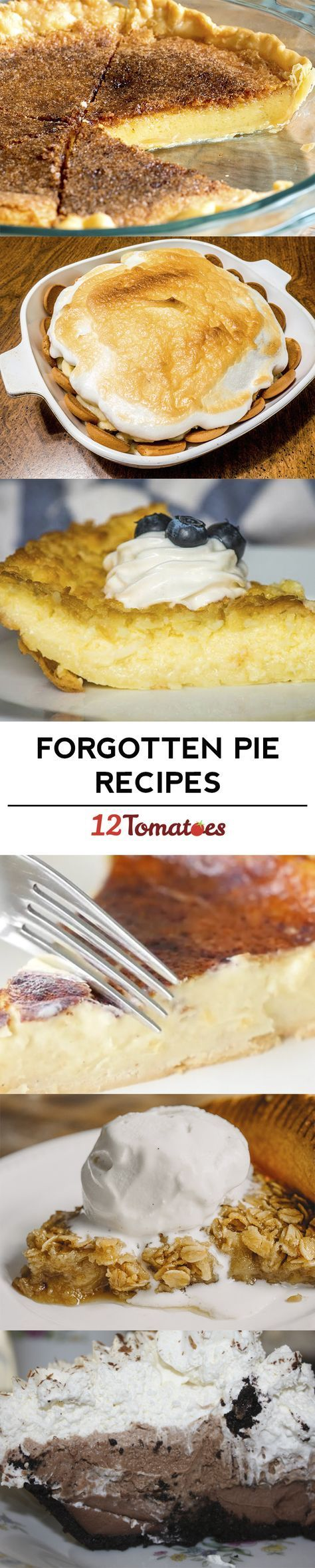 Forgotten pie recipes