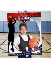 Giant Basketball Photo Booth Frame