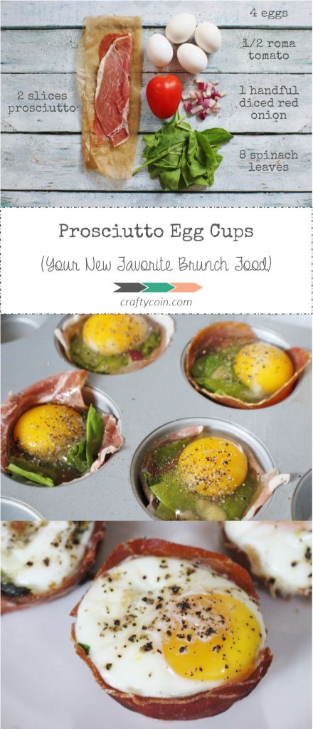 Need something quick and easy to impress guests with? This is it! | Prosciutto Egg Cups (Your New Favorite Brunch Food) | Crafty Coin #brunch #simple #realfood