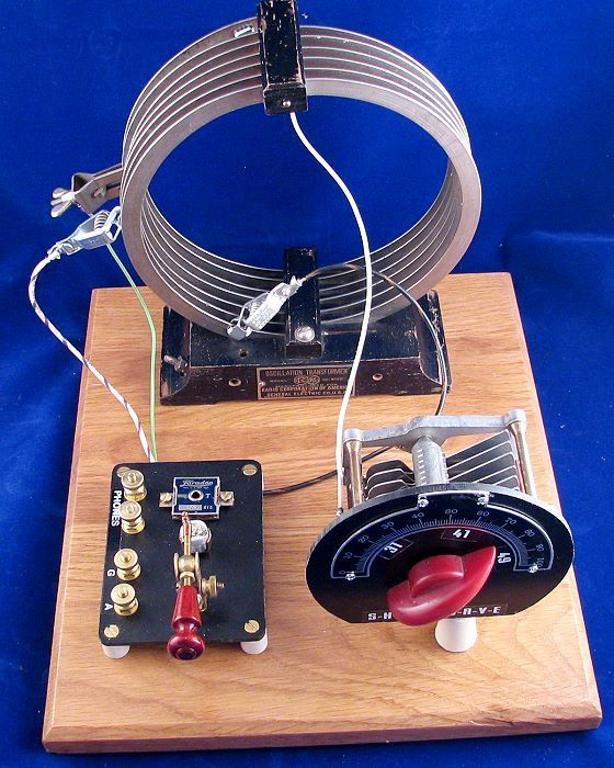 Dave Schmarder S Homemade Crystal Set With Galena Detector