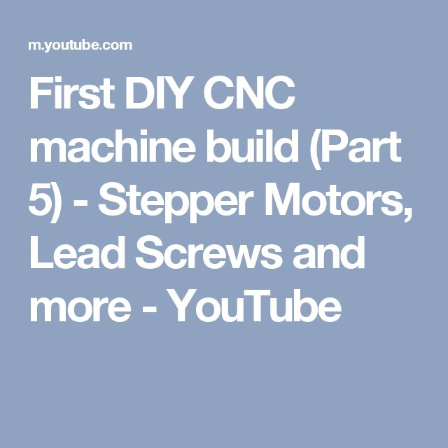 75 best cnc images on pinterest cnc milling machine cnc router first diy cnc machine build part stepper motors lead screws and fandeluxe Choice Image