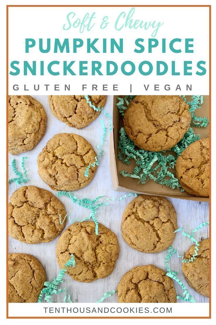 Soft And Chewy Pumpkin Spice Snickerdoodles Are Quick And Easy To