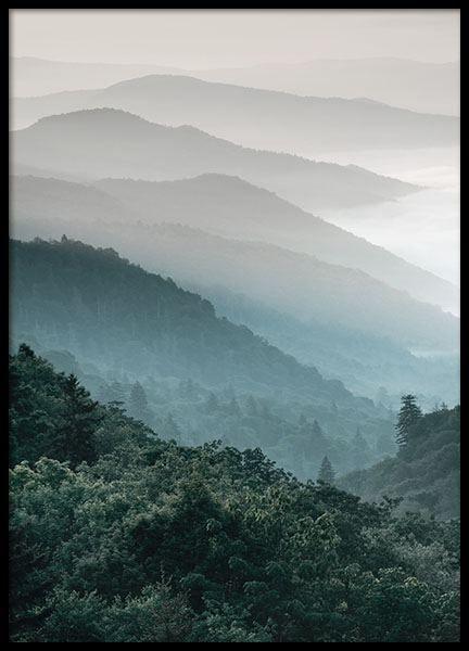 Forest Mountain, julisteet ryhmässä Julisteet  / Koot / 70x100 cm @ Desenio AB (8535)