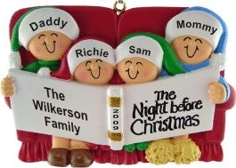 4 - Night Before Christmas - Personalized Family Christmas Ornament