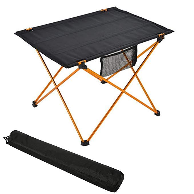 Folding Camp Table Portable Compact Lightweight Folding Roll Up Table In A Bag A Small Light And Easy To Carry For Camp Camping Table Outdoor Tables Small