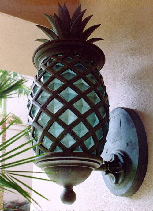 Pineapple Outdoor Lights We Are Want To Say Thanks If You Like To Share This Post To Another People Via Tropical Home Decor Beach House Decor Pineapple Lights